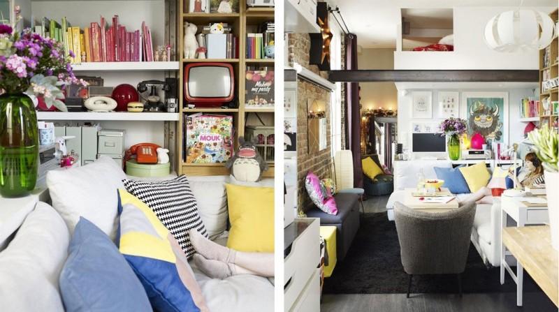 Интерьер очень маленькой квартиры в Париже