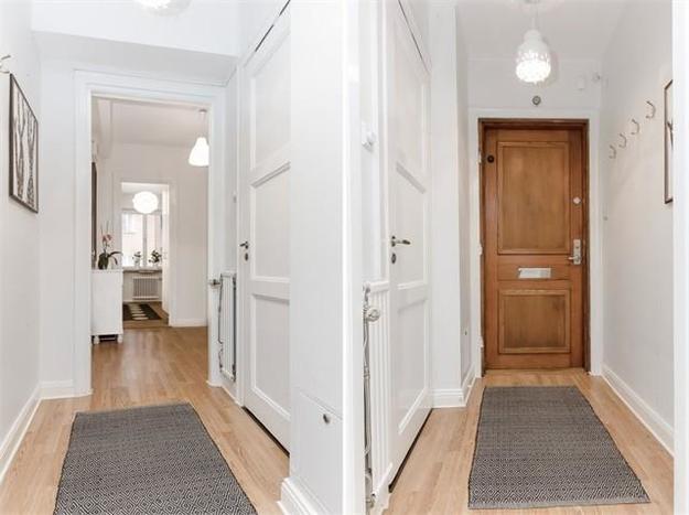 Интерьер квартиры в мансарде (швеция)
