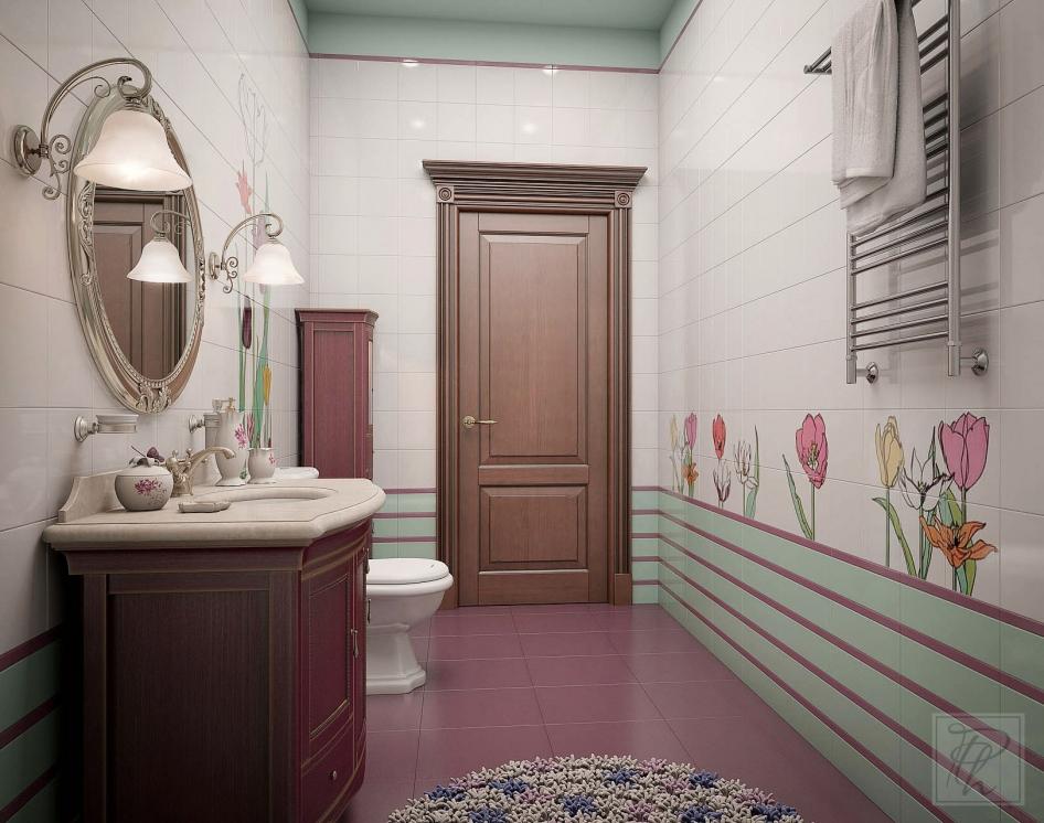 Интерьер маленького туалета в квартире