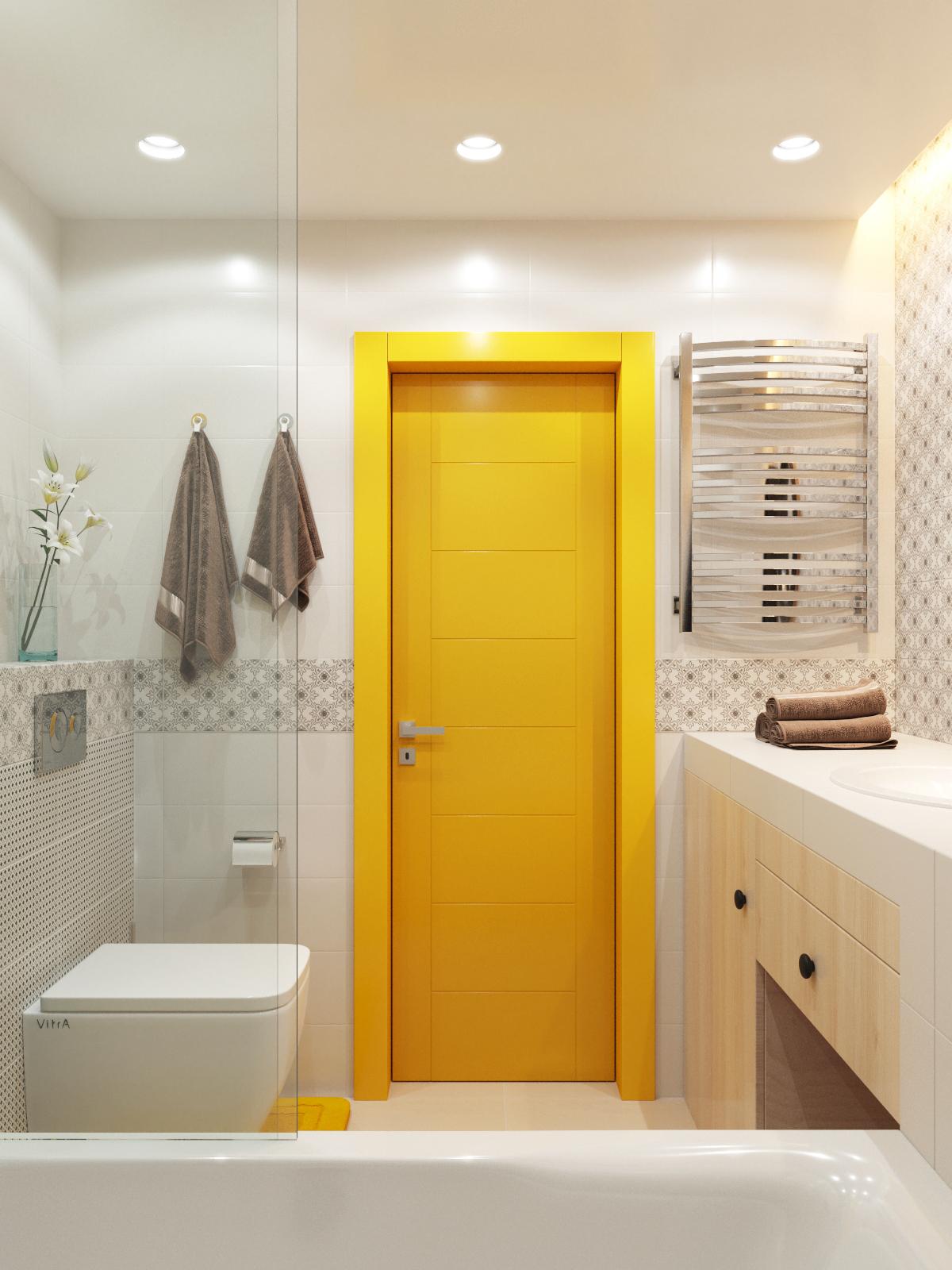 Интерьер ванной комнаты и санузла фото.