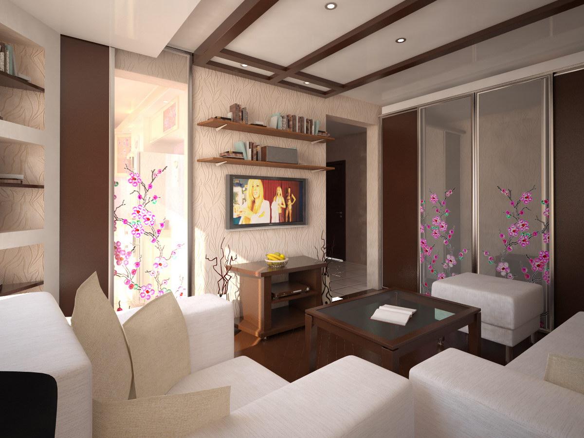 Маленький зал в квартире фото