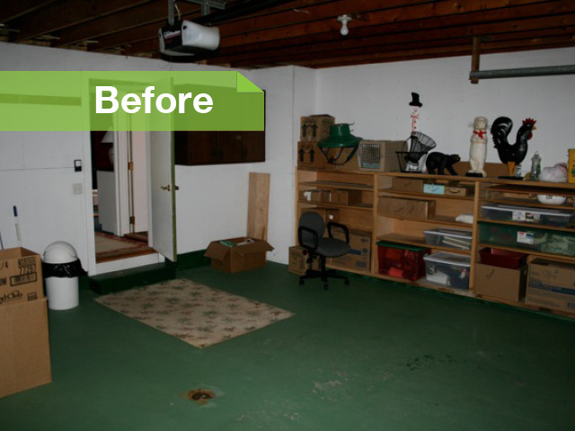 Интерьер гаража до ремонта