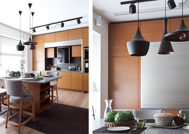 Обеденная и кухонная зоны