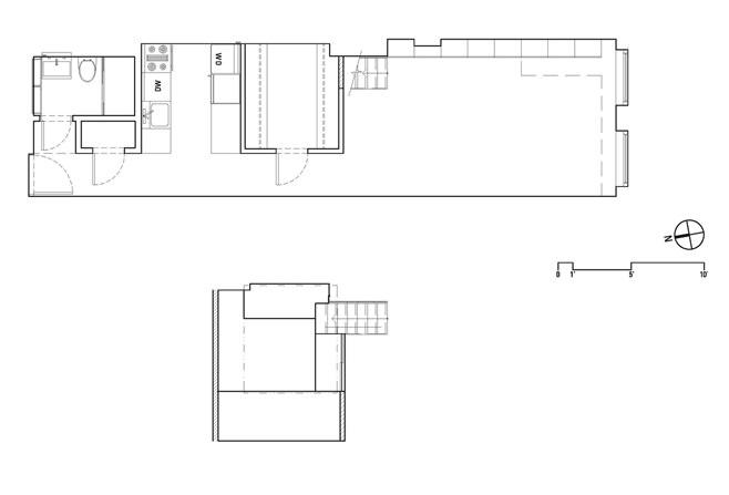 Планировка прямоугольной квартиры с одним окном