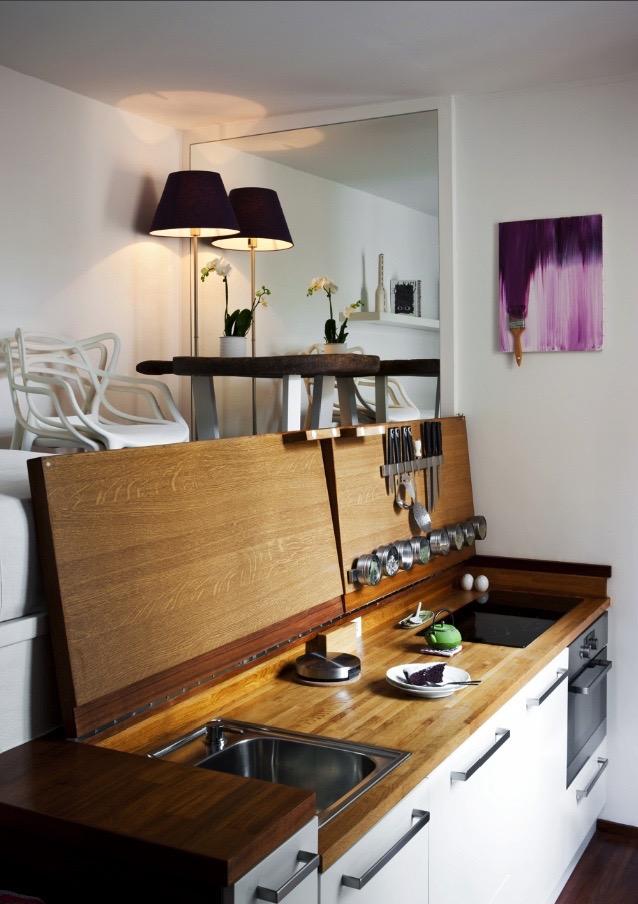Как спрятать кухню функционально