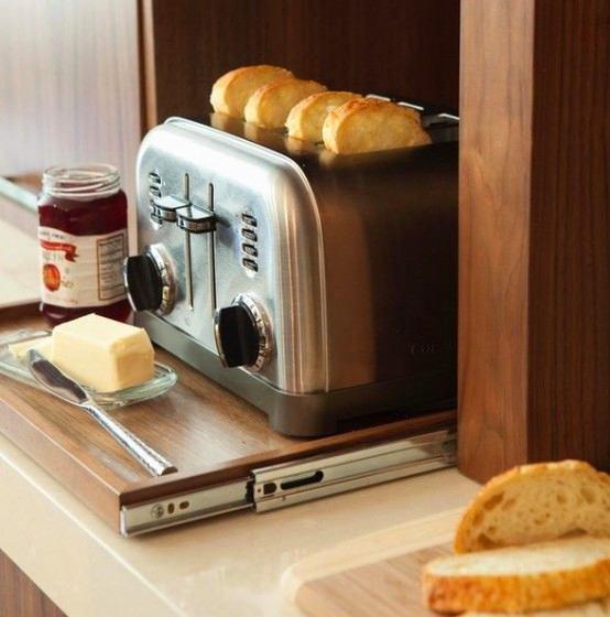 Выдвижная подставка для тостера