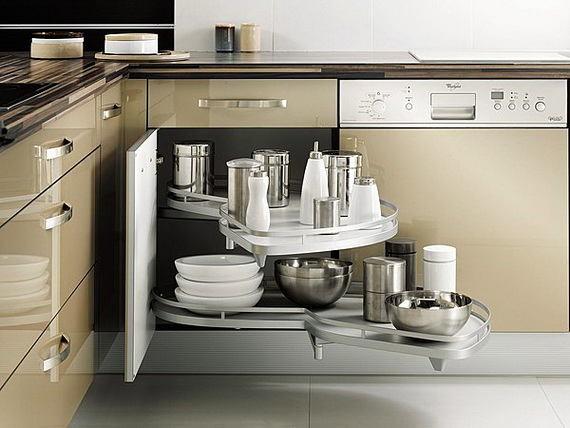 Выдвижные полки для посуды