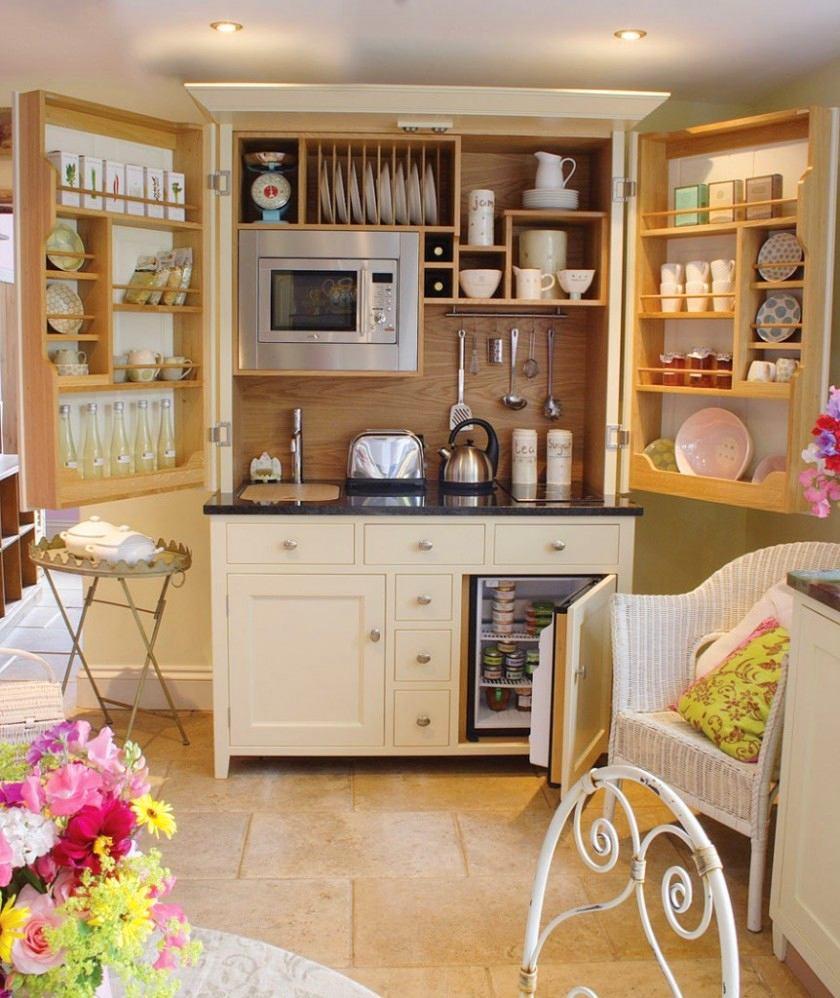 Компактный складной кухонный гарнитур