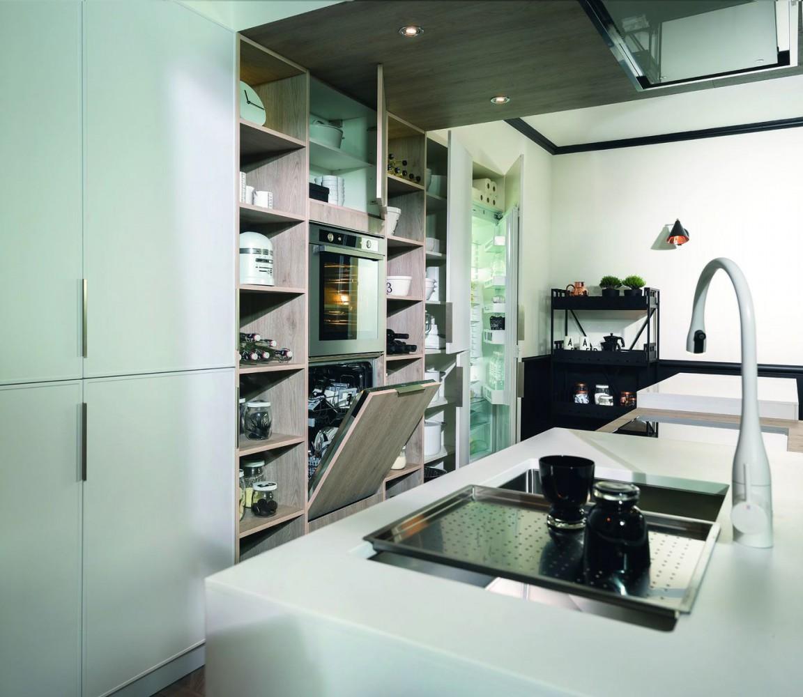 Интерьер комнактной кухни