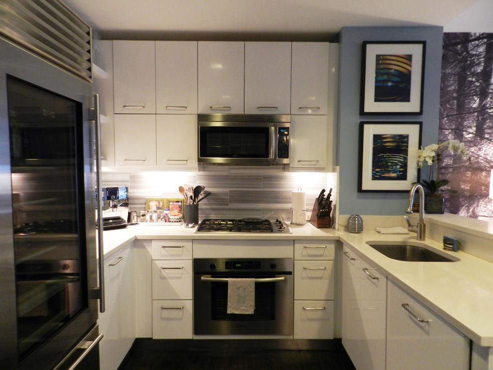 Кухня холостяцкой квартиры на Манхэттене