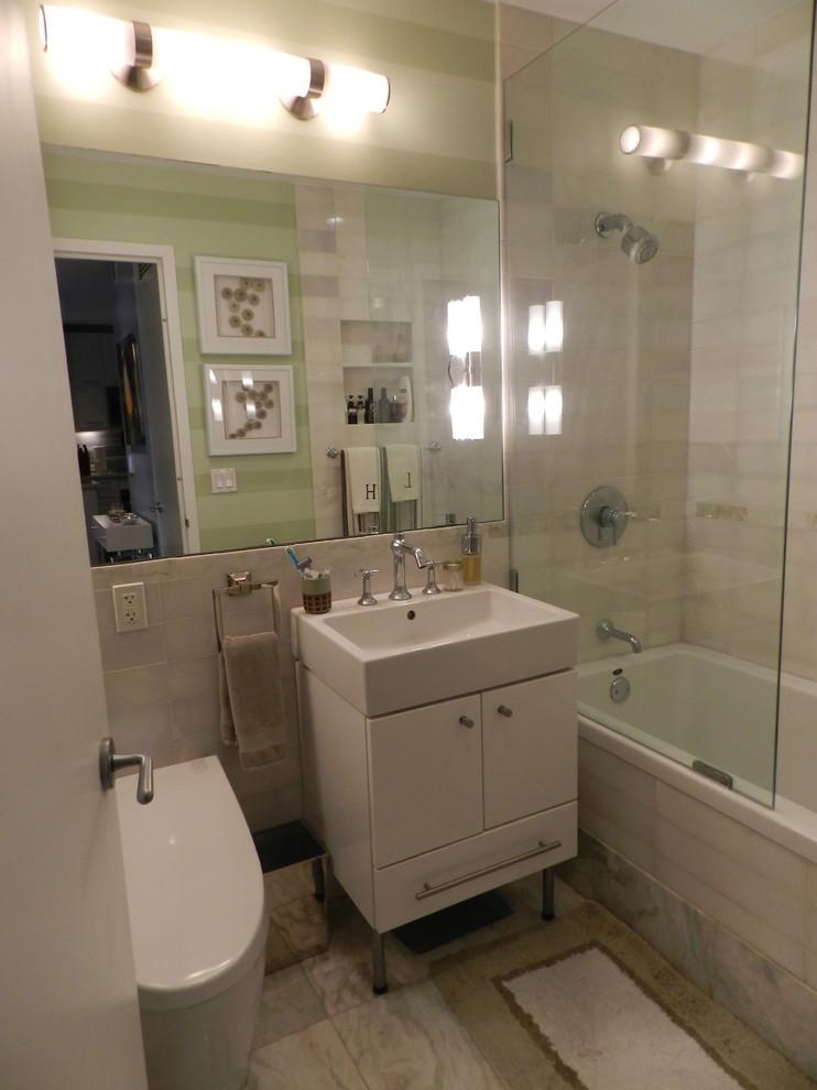 Ванная холостяцкой квартиры на Манхэттене