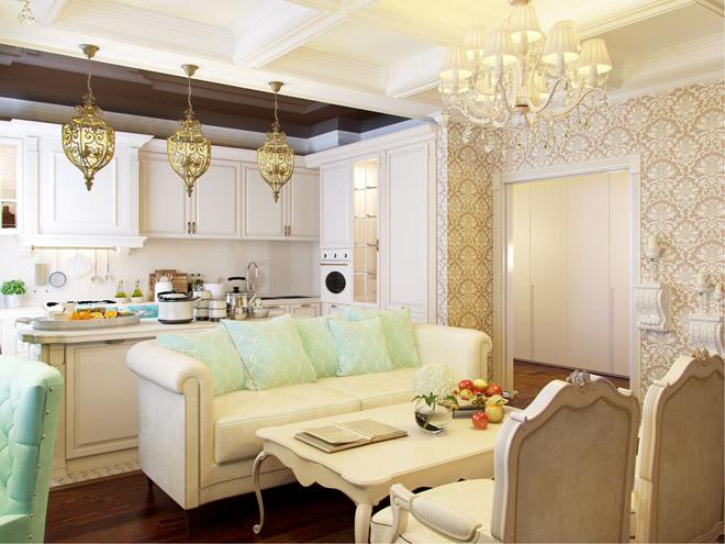 гостиной кухни фото