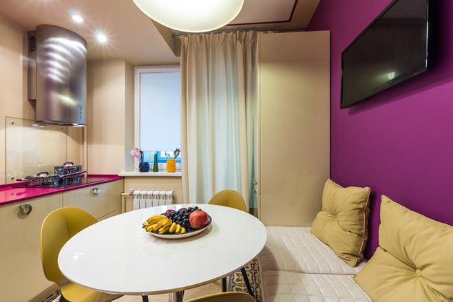 Кухня 8 кв метров дизайн с диваном