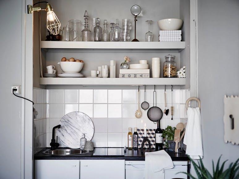 Классический дизайн маленькой кухни