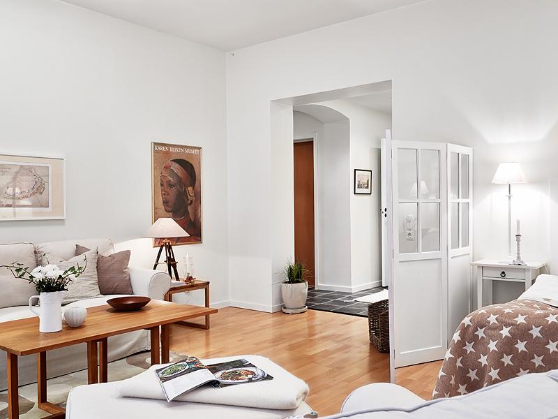 Квартира-студия в пастельных тонах