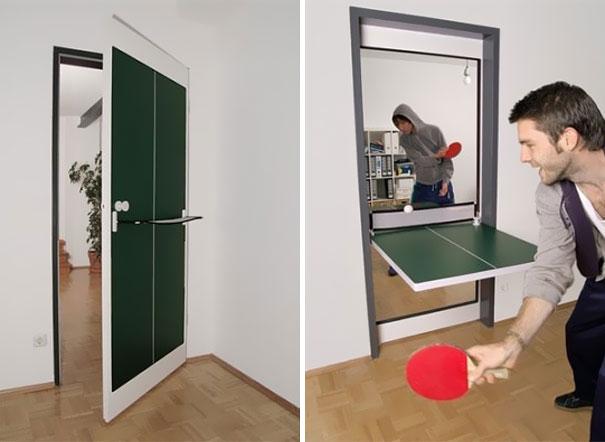 Дверь-стол для настольного тенниса
