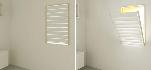 Вешалка для полотенец на окне