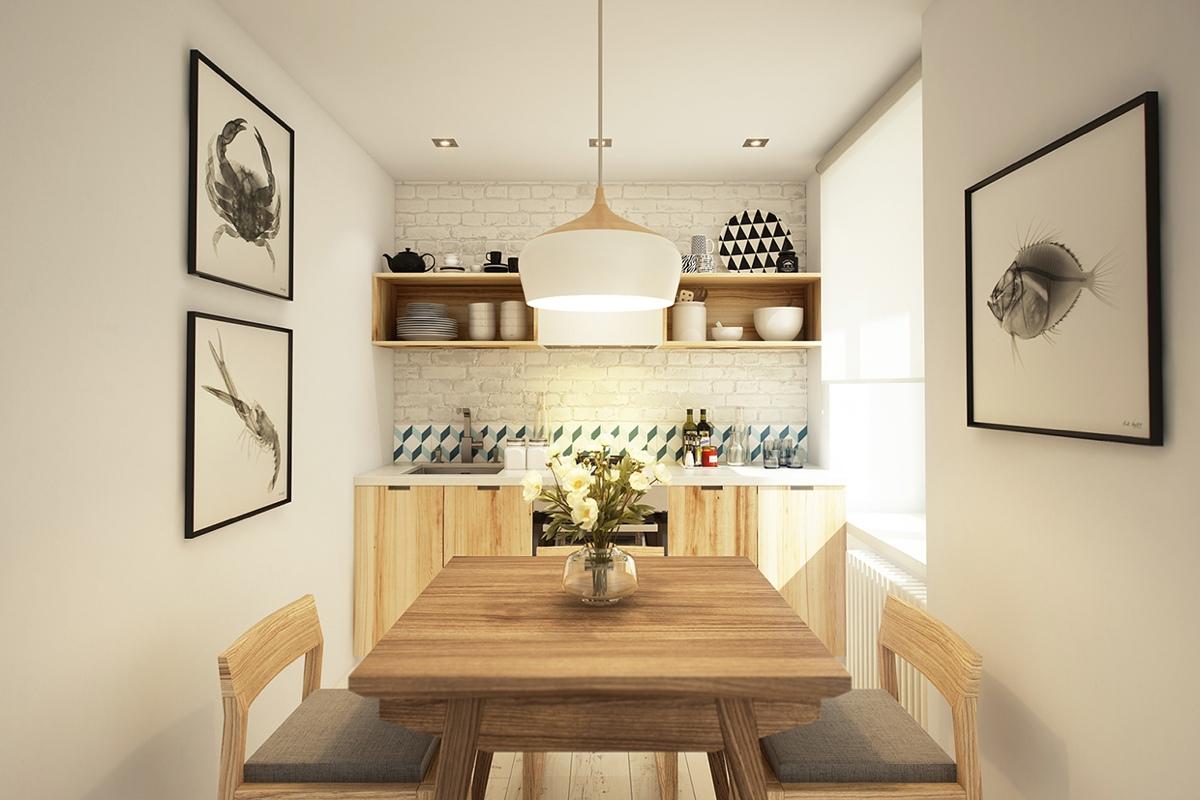 Дизайн кухни в маленькой квартире-студии