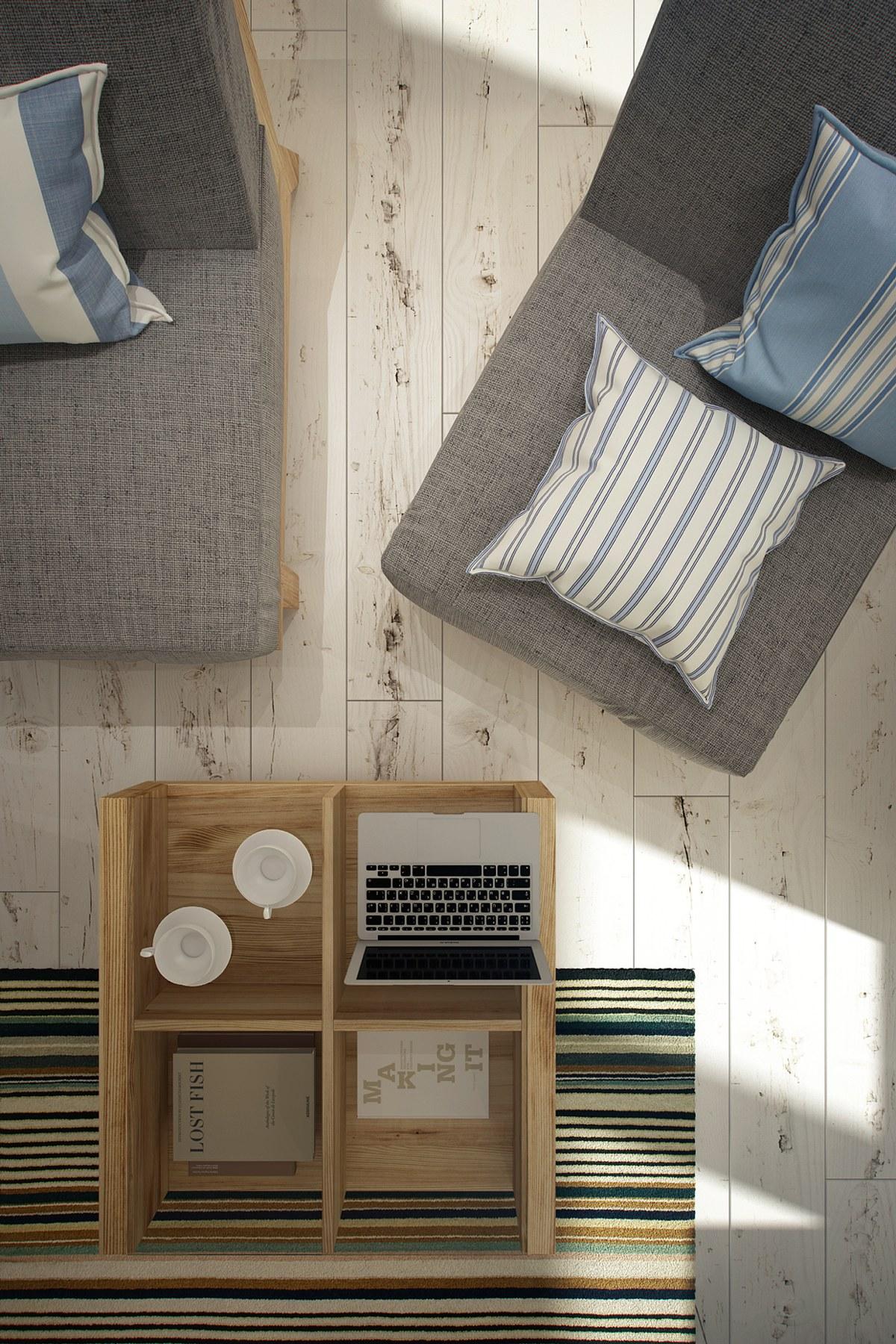 Дизайн маленькой квартиры-студии в скандинавском стиле - фото 3