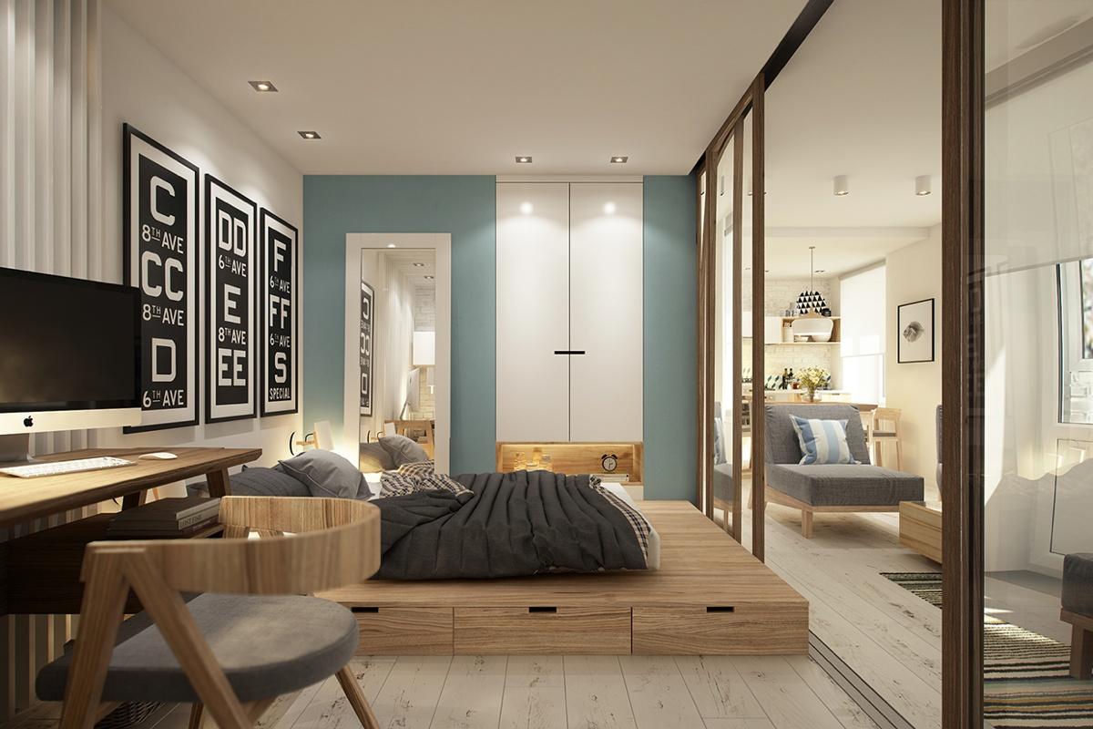 Дизайн маленькой квартиры-студии в скандинавском стиле - фото 5