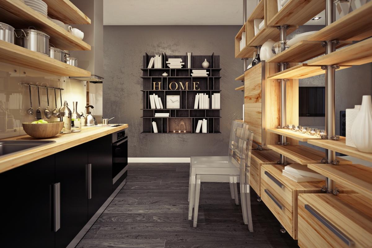 Дизайн маленькой квартиры-студии в тёплых тонах - фото 4