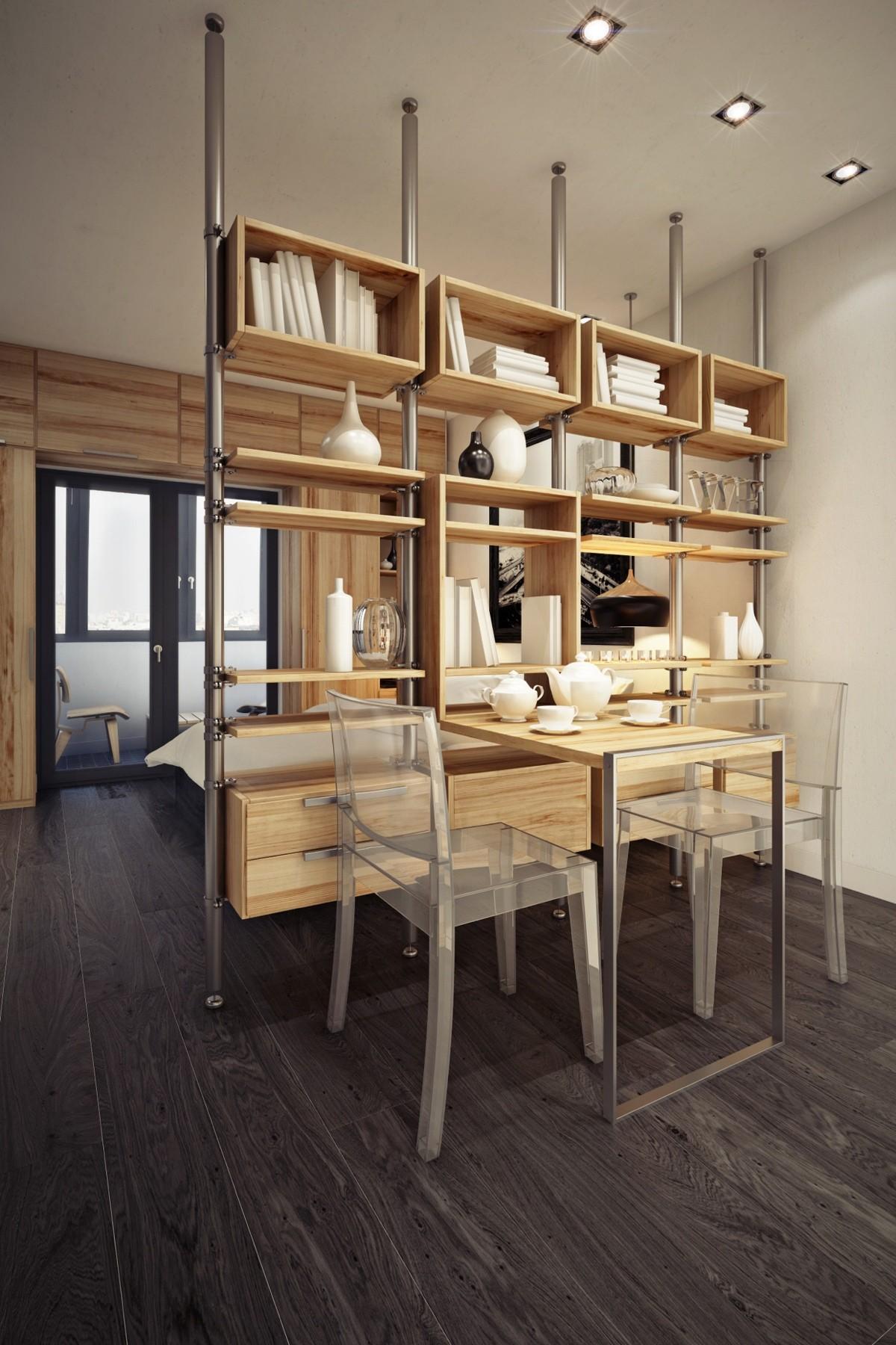 Дизайн маленькой квартиры-студии в тёплых тонах - фото 3