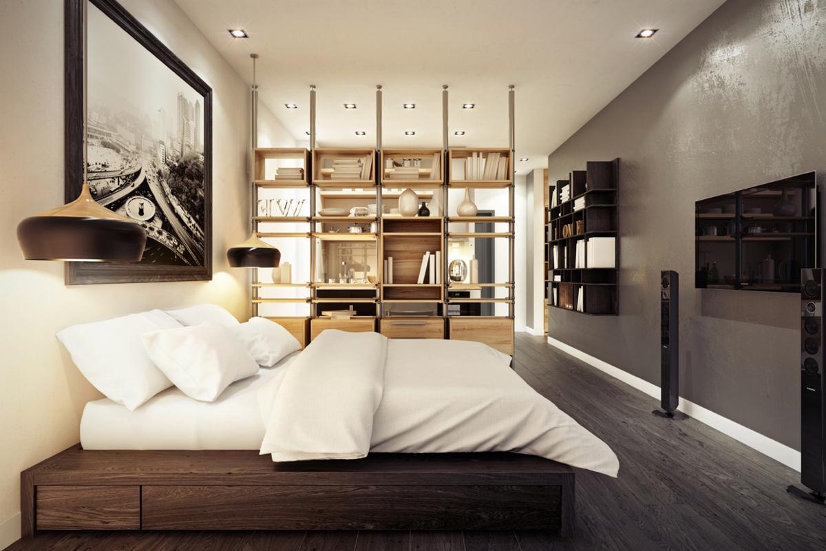 Дизайн маленькой квартиры-студии в тёплых тонах - фото 2