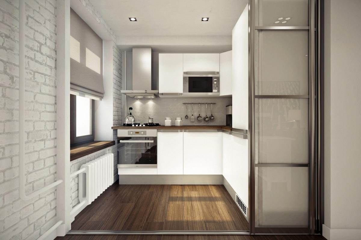 Дизайн маленькой кухни в квартире-студии