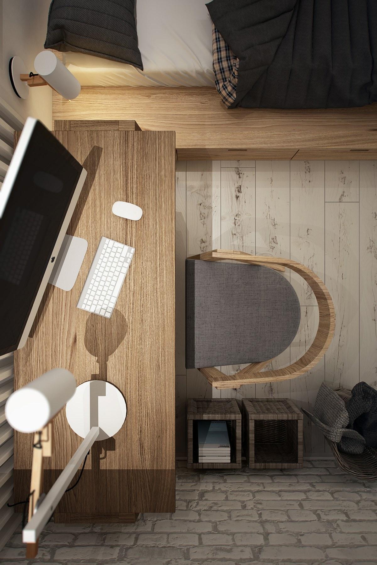 Рабочее место в маленькой квартире-студии