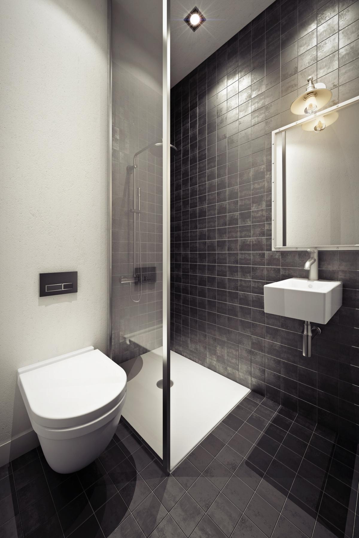 Дизайн ванной в серых тонах
