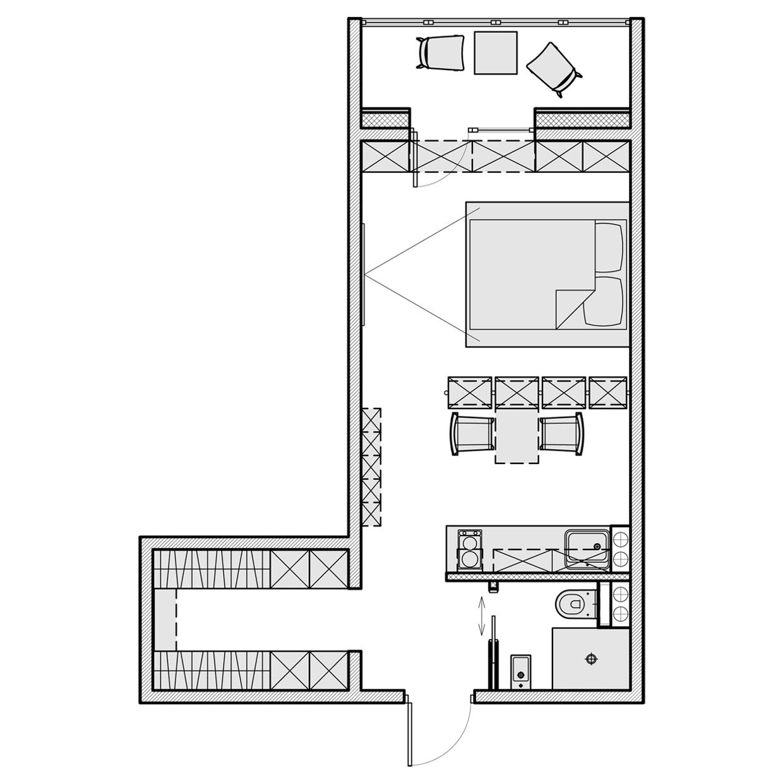 Планировка маленькой квартиры-студии