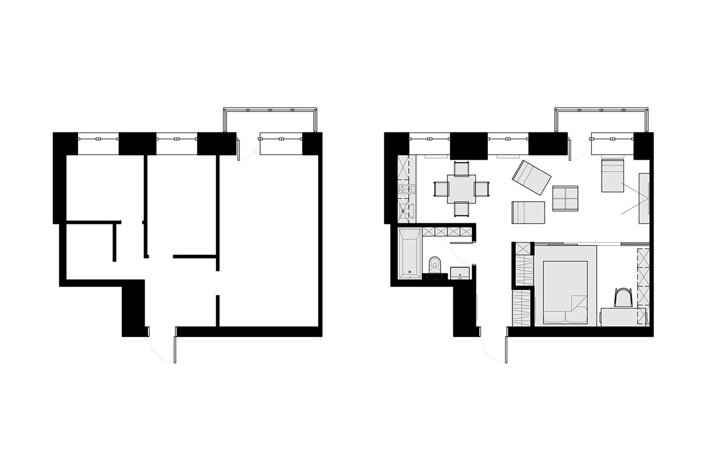Планировка маленькой квартиры-студии - фото 2