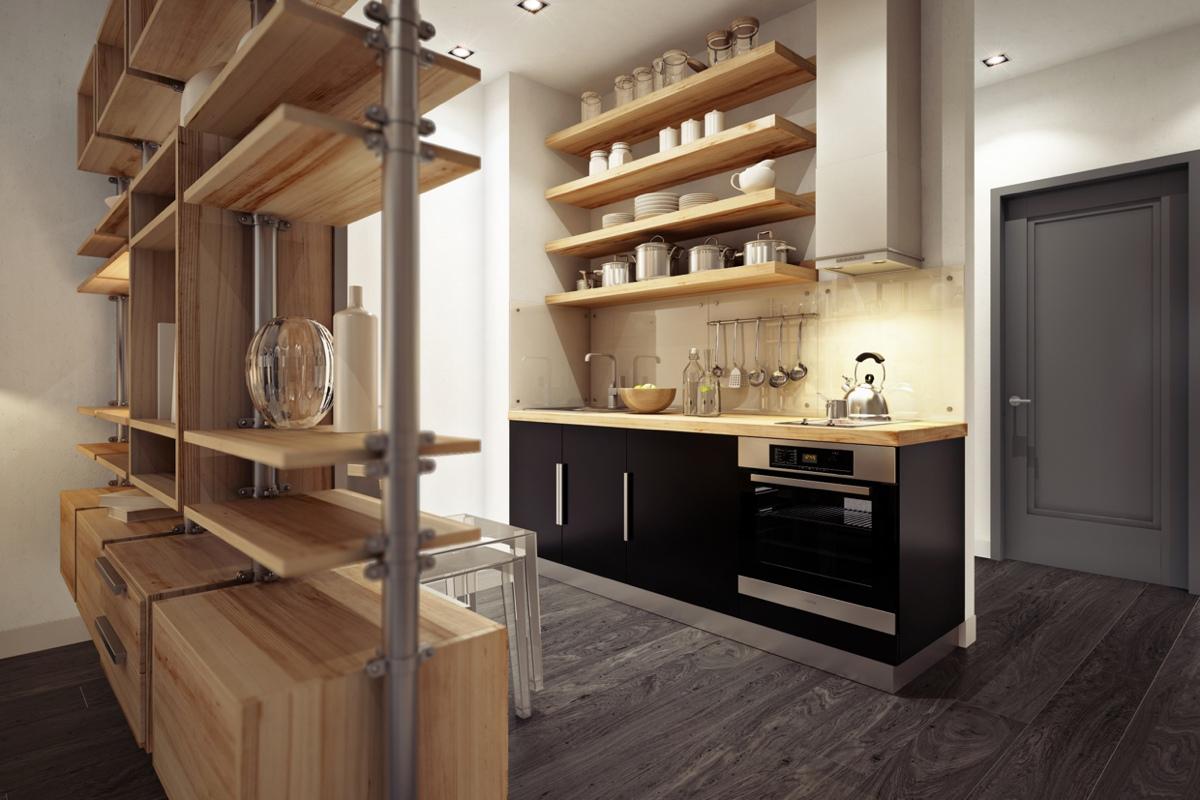 Дизайн маленькой квартиры-студии в тёплых тонах - фото 5