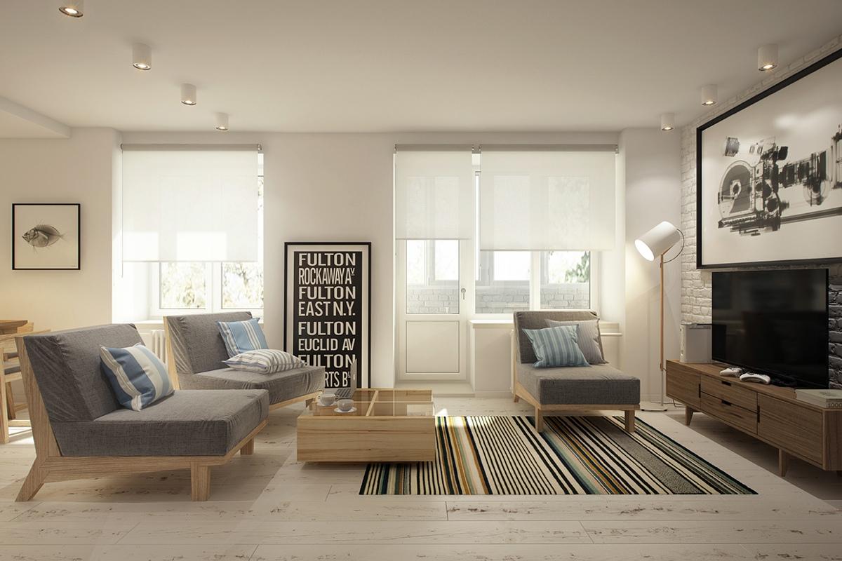 Дизайн маленькой квартиры-студии в скандинавском стиле - фото 2