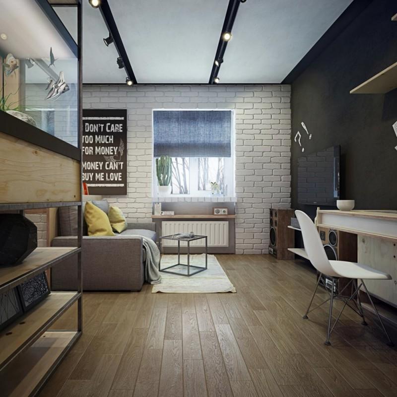 Красивый интерьер маленькой квартиры в светлых тонах