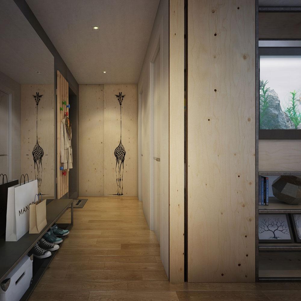 Просторный коридор в маленькой квартире