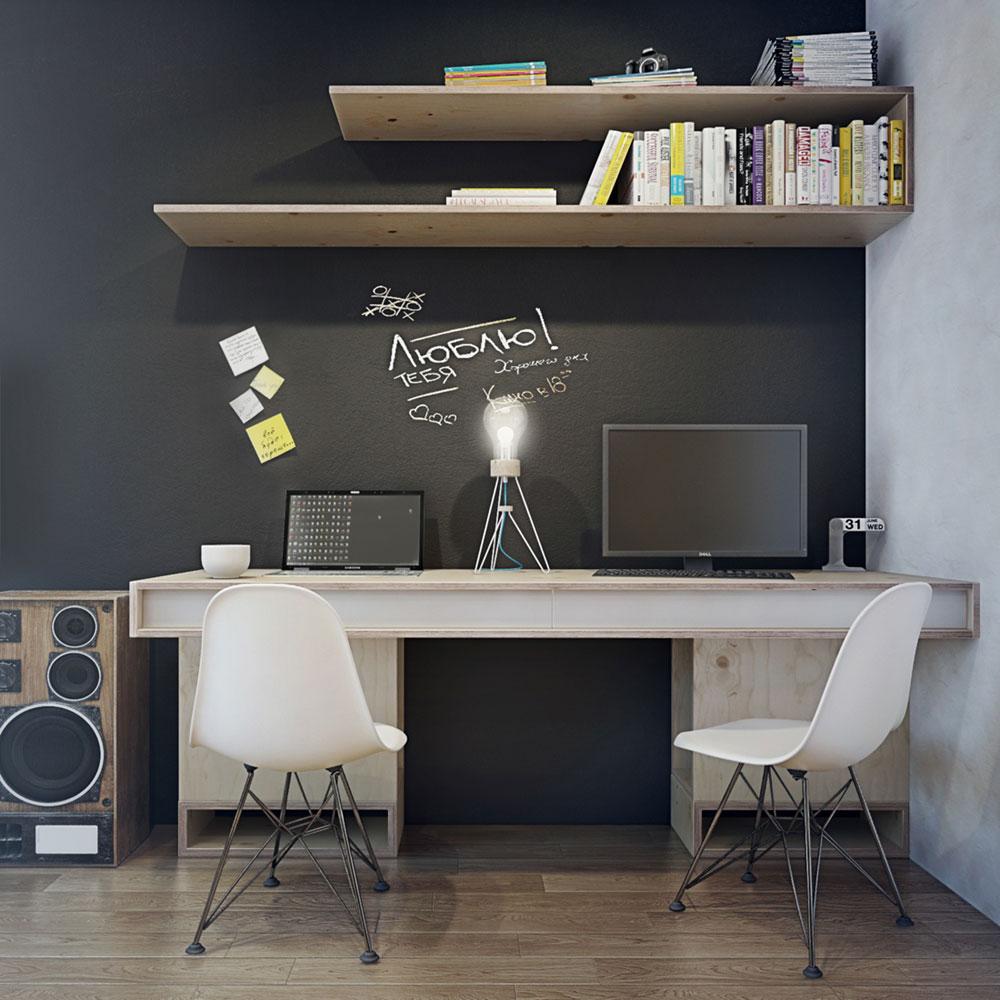 Рабочая зона в маленькой квартире