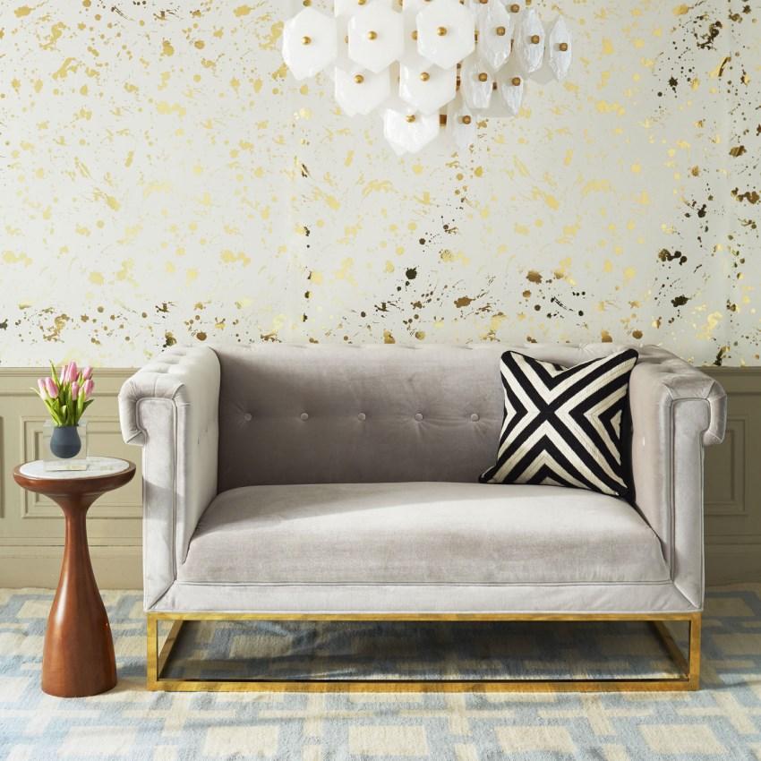 Стильный диван Caine Settee от Jonathan Adler