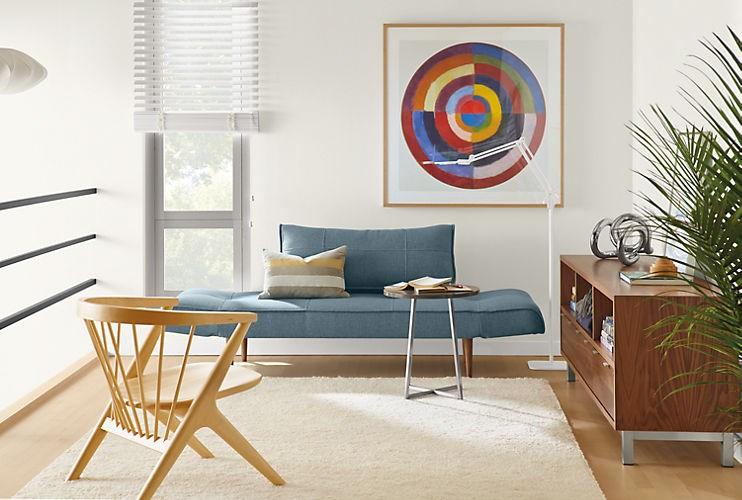 Синий диван Etna Convertible Sleeper Sofa от Room & Board