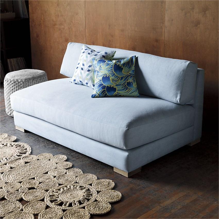 Голубой диван Piazza Apartment Sofa от CB2
