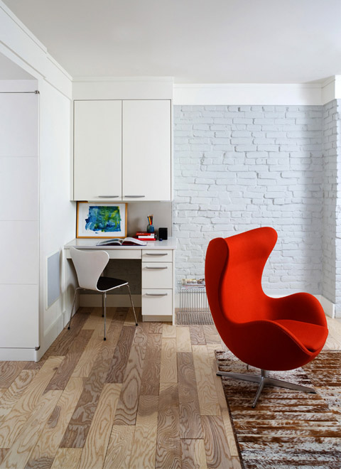 Красивый интерьер маленькой квартиры от Donald Lococo Architects