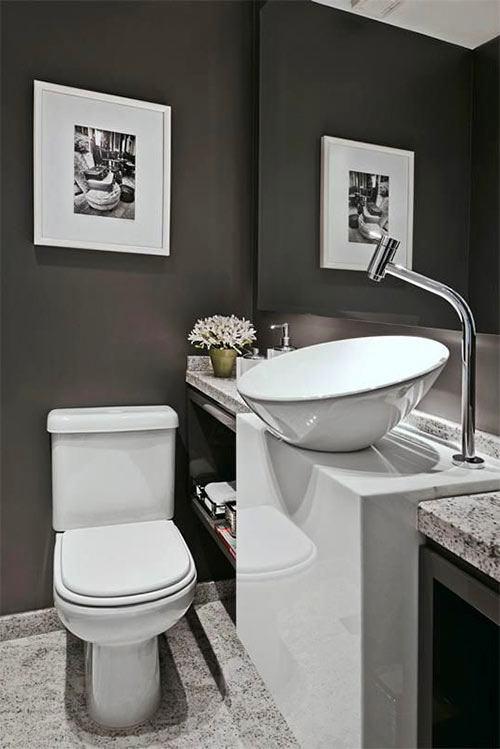 Раковина необычной формы в ванной