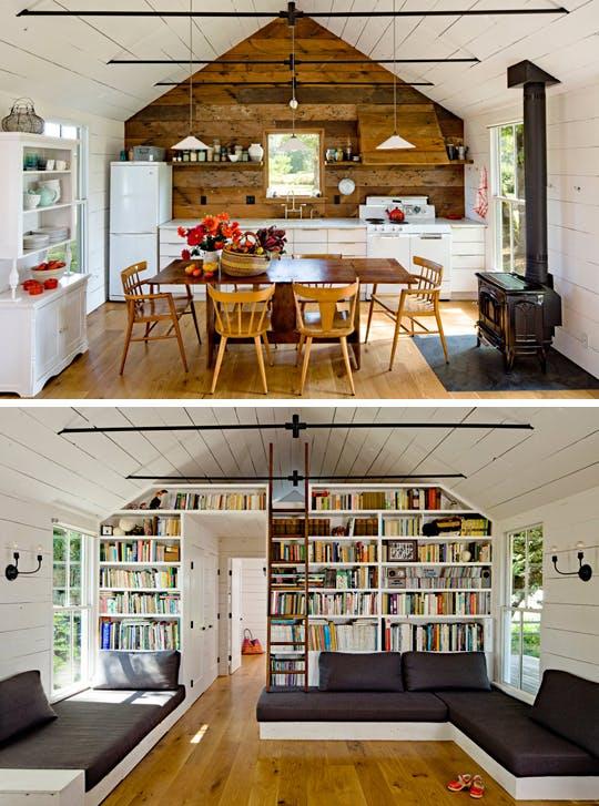 Просторная кухня в крошечном доме