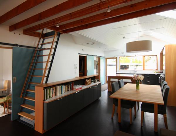 Опущенный потолок в столовой