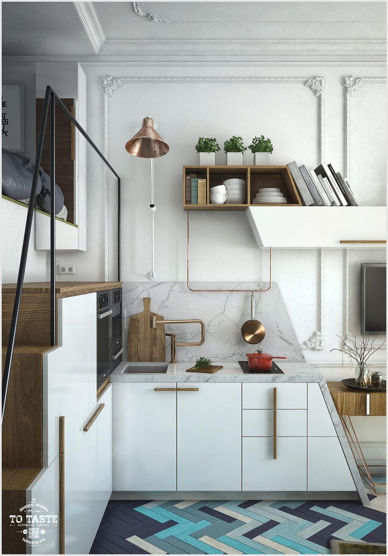 Спальное место над кухней