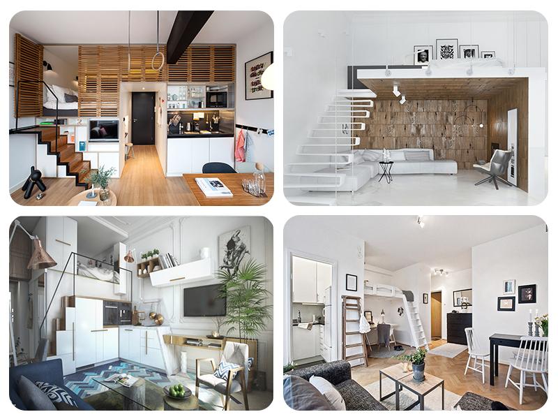 Кровать чердак в квартире студии: 4 различных варианта