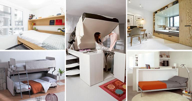 Складная кровать в маленькую спальню