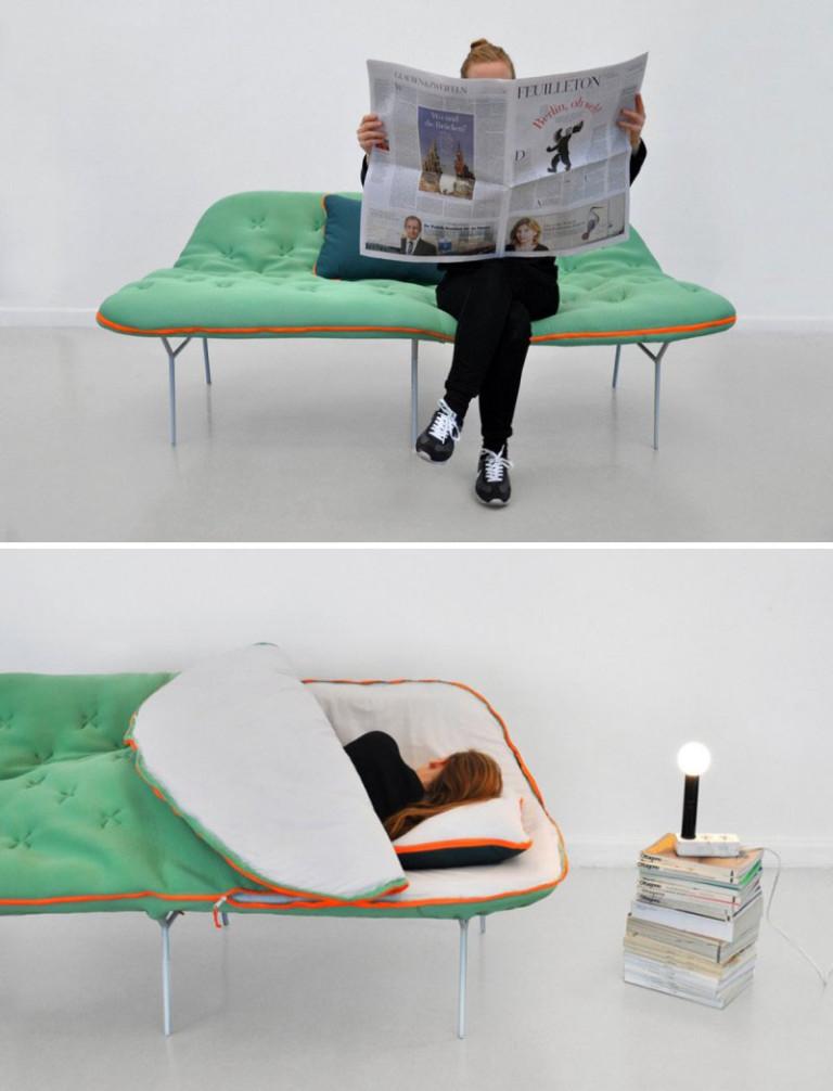 Диван-кровать в маленькую спальню