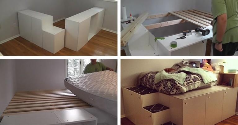 Кровать в маленькую спальню от IKEA