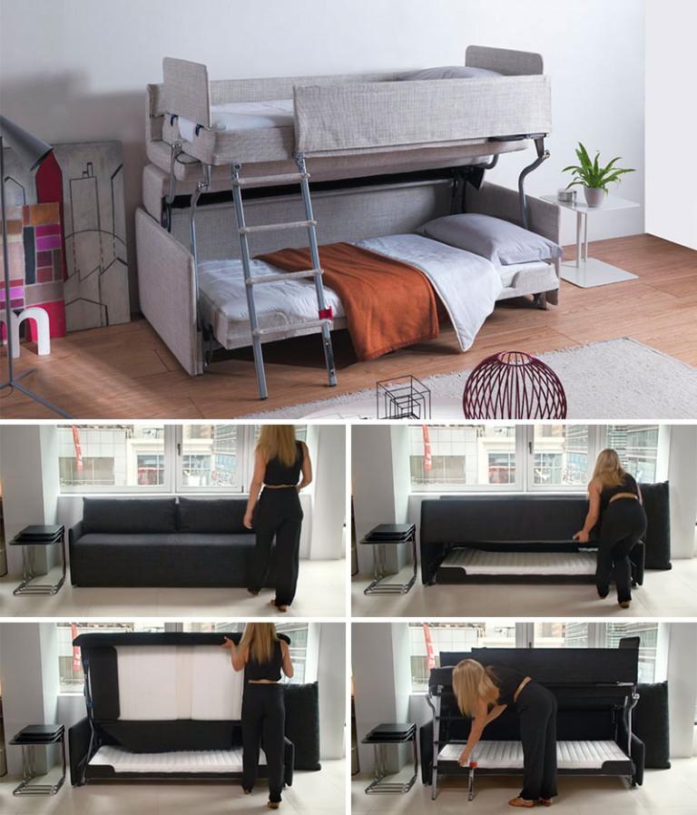 Раскладной диван в маленькую спальню